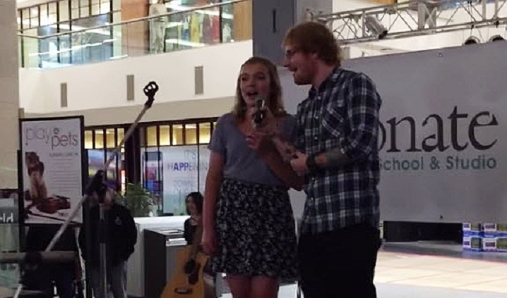 ed sheeran surprises fan